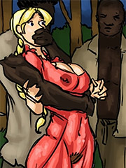 I can see through her dress she has nothing under - Manza by Illustrated interracial
