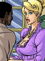 Pumped the young mistress with his nigger seed - Manza by Illustrated interracial